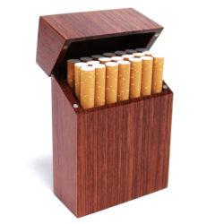 Logotipo personalizado al por mayor venta de fábrica Rectangular ecológica de Navidad regalo de promoción de embalaje caja de cigarrillos