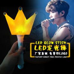 Parte de concerto o logotipo personalizado torcendo RGB LED luz de plástico Stick Novertly iluminação intermitente Stick