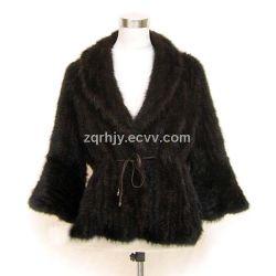 Knitted Mink Jacket (RHJY-G-55)