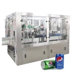 Sunswellの自動炭酸清涼飲料のクラフトの缶ビールラインペットアルミニウム缶の注入口および販売のための液体の充填機を包むSeamerの飲料