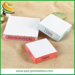 Diseño personalizado de notas Bloc de notas adhesivas para la promoción de la empresa