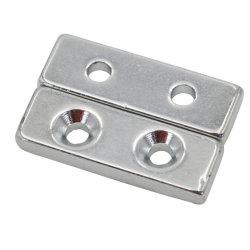 Il forte piccolo neodimio sottile lungo utilizza i magneti di barra con il foro svasato due