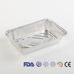 Verpackenkasten-länglicher Nahrungsmittelspeicher nehmen Aluminiummittagessen-Kasten-Folien-Kasserolle weg