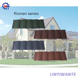 Tegel van het Dak van het Metaal van de Stijl van Mediterrean de Duurzame Roman Steen Met een laag bedekte