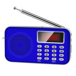 TFのカードが付いているポケット・サイズAm/FMのラジオ及びUSB充満を用いるエムピー・スリー回転ステレオスピーカーおよび大きい容量およびデジタル表示装置の電池