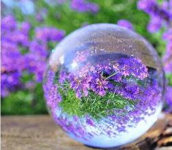 100mm 80mm de 40mm Ronde Duidelijke Kristallen bol van de Gebieden van de Ambachten van het Glas