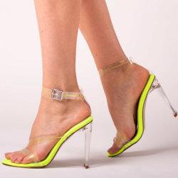 L'été des chaussures chaussures femmes été Crystal Clear talon Mesdames filles sandales claire