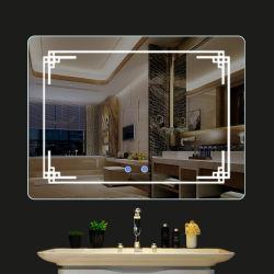 كبيرة بنية [لد] مرآة جمال [لد] مرآة لأنّ غرفة حمّام ثلاثة أنواع الضوء