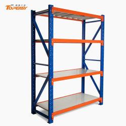 Armazenamento de garagem econômico médio longo de aço Span Estantes Warehouse Rack de armazenamento