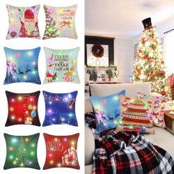45x45см Мягкие плюшевые игрушки есть постельное белье из хлопка LED декоративные подушки сиденья