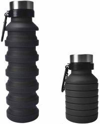 Pliable pliable Gallon bouteilles d'eau de boisson à base de silicone avec 550ml