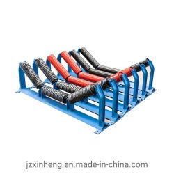 Bastidor de rodillo transportador, a través de bastidor de soporte intermedio