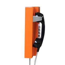 Qualitäts-lange Reichweiten-rotes industrielles Telefon-allgemeines Telefon für Untergrundbahn-Telefon-Stand-wasserdichtes Telefon