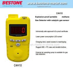 Bewegliche explosionssichere Gas-Detektor-Warnung des Butan-C4h10 für Öl-Extraktion