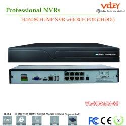 H. 264 8CH Standalone Realtime Onvif Gravador NVR de vigilância CCTV