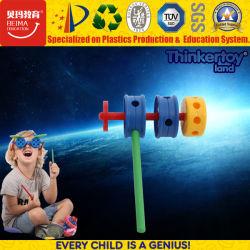플라스틱 빌딩 블록은 아이를 위해 배우는 다른 교육 장난감 유형을