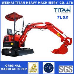La Chine mini-excavateur 0,8 tonne pour le marché américain sur la vente de bonne qualité