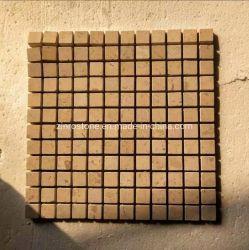 Mosaico giallo del ciottolo della pietra per lastricati del calcare per le mattonelle della parete & le mattonelle di pavimento