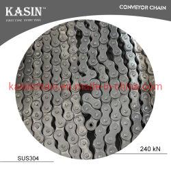 catena industriale del rullo della trasmissione dell'acciaio inossidabile di norma ISO 08b con concentrazione ad alta resistenza per la macchina di Drving