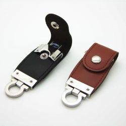 カスタマイズされたロゴのためのカスタムKeychain革USBのメモリ棒4G USBのフラッシュ駆動機構