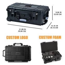 Comercio al por mayor de plástico con ruedas Caja de herramientas carro vuelos