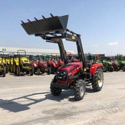 Sadin 50 HP de 4 ruedas motrices jardín de césped Campact agrícola Tractor agrícola con cargador frontal