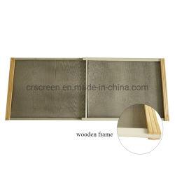 Estrutura de madeira Janela Deslizante ajustável de 2 vias de tela da janela