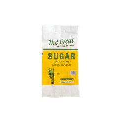 Bolsa de plástico blanco tejida de polipropileno envases de grano de maíz arroz las semillas