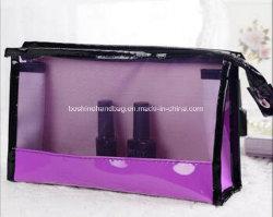 Элегантный высокого класса дамы красочные туалет PU прозрачных поездки косметический мешок