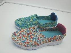Breathable Webart bereift beiläufige Sport-Schuhe für Frauen
