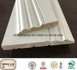 建築材料のマツ固体製材白いプライマー木製のボードカナダ