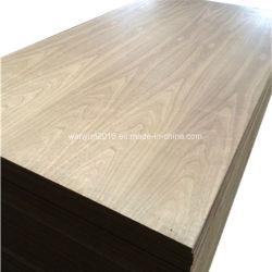 3mm 5mm MDF Laminado de madera de nogal natural para la decoración