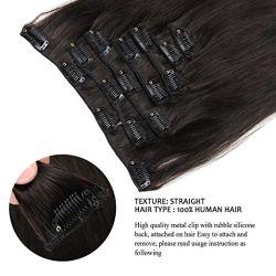Extensão de cabelo Brasileiro Aviva encaixar na extensão de cabelo humano 18 polegada 7 PCS para Cabeça completa (AV-CHL07-18-1B)