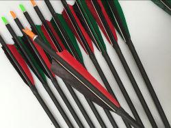 Tipo del &Arrow dell'arco ed arco della freccia della piuma di caccia della freccia della fibra del carbonio di uso di caccia e freccia stabiliti