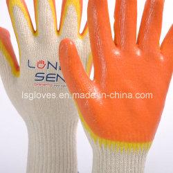 HS 61161000 deux fois la couleur de feux de croisement Double Latex gant enduit travailler la main de sécurité