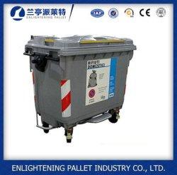 プラスチック車輪のごみ箱1100L 660LをリサイクルするHDPE