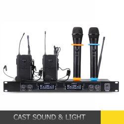 4 canaux à bon marché-cravate microphone du casque sans fil