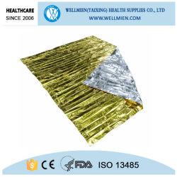 응급처치 호일 실버 골드 열 의료 비상 담요를 사용하십시오