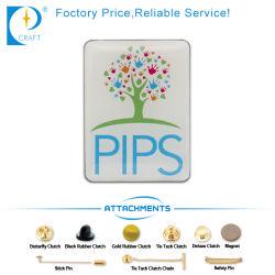 تصميم مخصص شعار الشركة الخاص بك شعار التعريف رمز PIN مع برنامج Offset Printing+Epoxy بجودة عالية