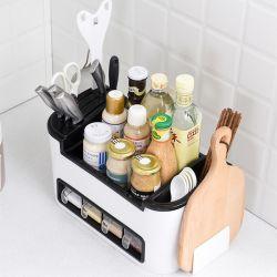 ホーム多機能の台所乾燥ボックス一定のラック・カッターラック台所はプラスチック記憶ラックを供給する