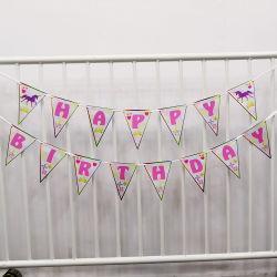 String de triângulo Pavilhão Feliz Aniversário faixa decorativa