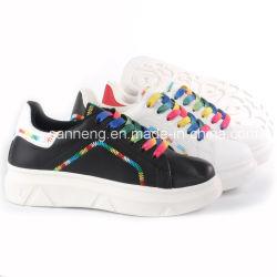 Lady Chaussures Fashion Rainbow semelle extérieure en PVC de dentelle- d'injection (SNC-62016)