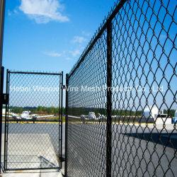 Rete fissa rivestita dell'aeroporto della maglia di collegamento Chain della rete metallica di sicurezza del PVC