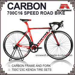 Vitesse de 700c 16 cadre carbone vélo de route de la fourche