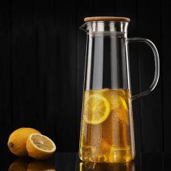 Waterkruik van de Thee van het Glas van de Kruik van de Drank van het Glas van de Kruik van de Drank van het Glas van het glaswerk de Vastgestelde