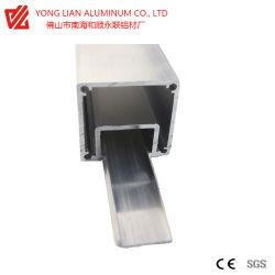 Aluminiumstrangpresßling-Profil für vollen Glaszwischenwand-Wand-Zubehör-Alaun. Panel-Aluminiumprofil für Glaswand-Gesicht