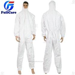 タイプ 4/5/6 化学 / 微孔性 /PP/SMS/ 産業防水 / 実験室 / 安全 / 作業 / 使い捨て不織布保護カバー全体の衣服