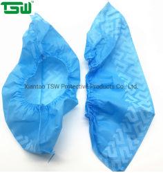 Protecções para sapatos descartáveis não tecidos, Anti-Dust PP Galochas para tampas de pé para salas brancas, materiais de consumo Non-Woven Antiderrapagem Tampa da Sapata