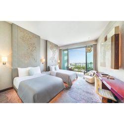 Luxury Hotel cinco estrelas moderno quarto conjuntos de móveis com iluminação de Ouro