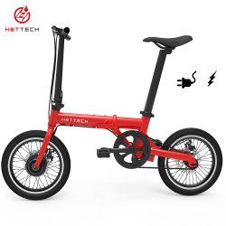 E Bike rouge 16 pouces mini vélo électrique Pliant Vélo électrique Pedelec a parlé de roue